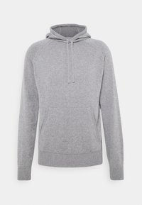 HOODIE - Stickad tröja - grey