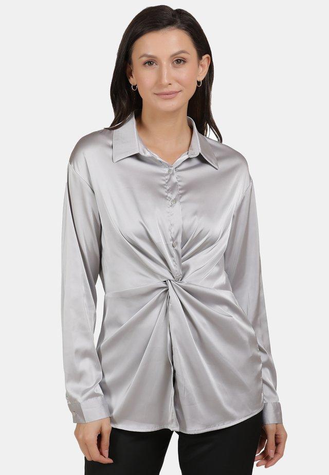 Overhemdblouse - silber