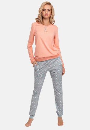 DAMEN LANGER - Pyjama set - salmongrey