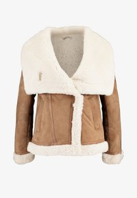 AllSaints - HARLOW SHEARLING - Leather jacket - toffee/ecru white - 3