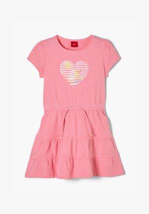 MIT HERZ-PRINT - Jersey dress - pink