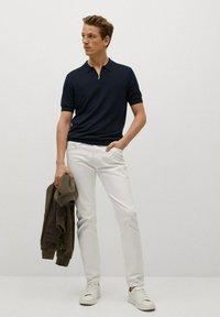 Mango - Polo shirt - marineblauw - 1