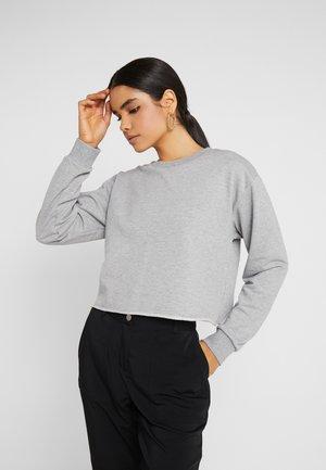 CROP - Sweatshirt - grey marl