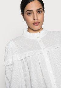 Kaffe - JOANNA BLOUSE - Button-down blouse - chalk - 4