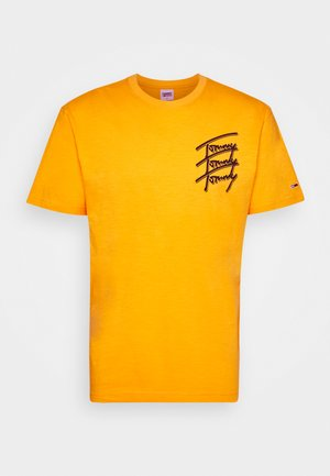 REPEAT SCRIPT TEE UNISEX - Print T-shirt - florida orange