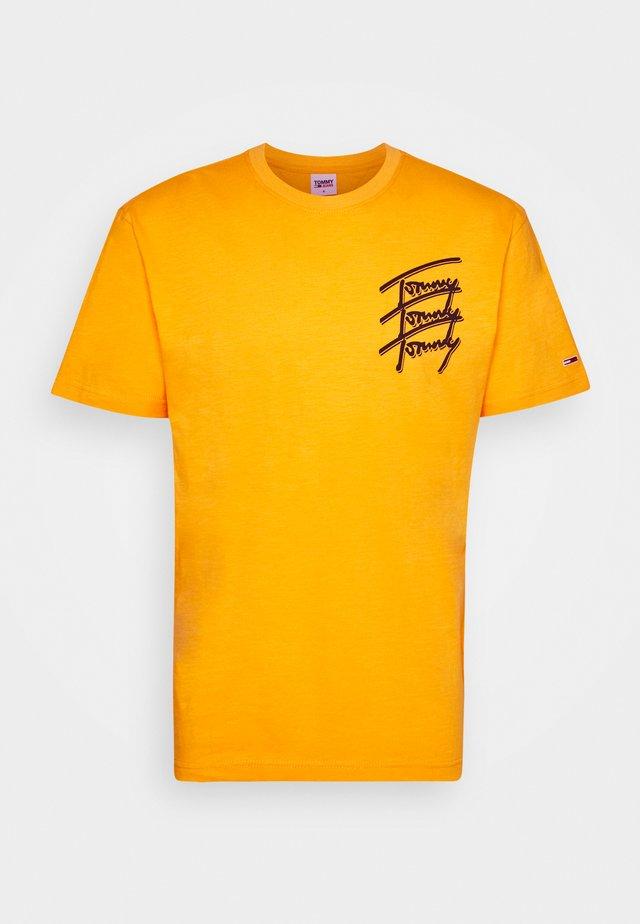 REPEAT SCRIPT TEE UNISEX - T-shirt imprimé - florida orange
