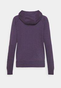 Nike Sportswear - HOODIE - Hoodie - dark raisin/white - 1