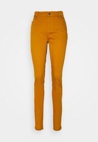 Vero Moda Tall - VMHOT SEVEN MR SLIM PUSH UP PANT - Trousers - buckthorn brown - 3