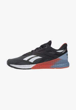 NANO X - Sports shoes - black/white/vivid orange