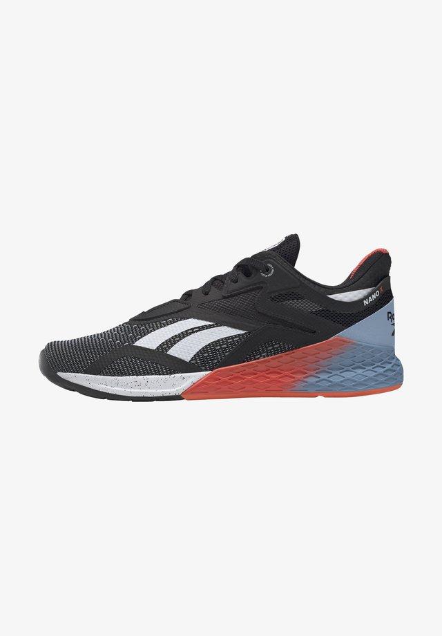 NANO X - Sports shoes - black/white/vivid orange