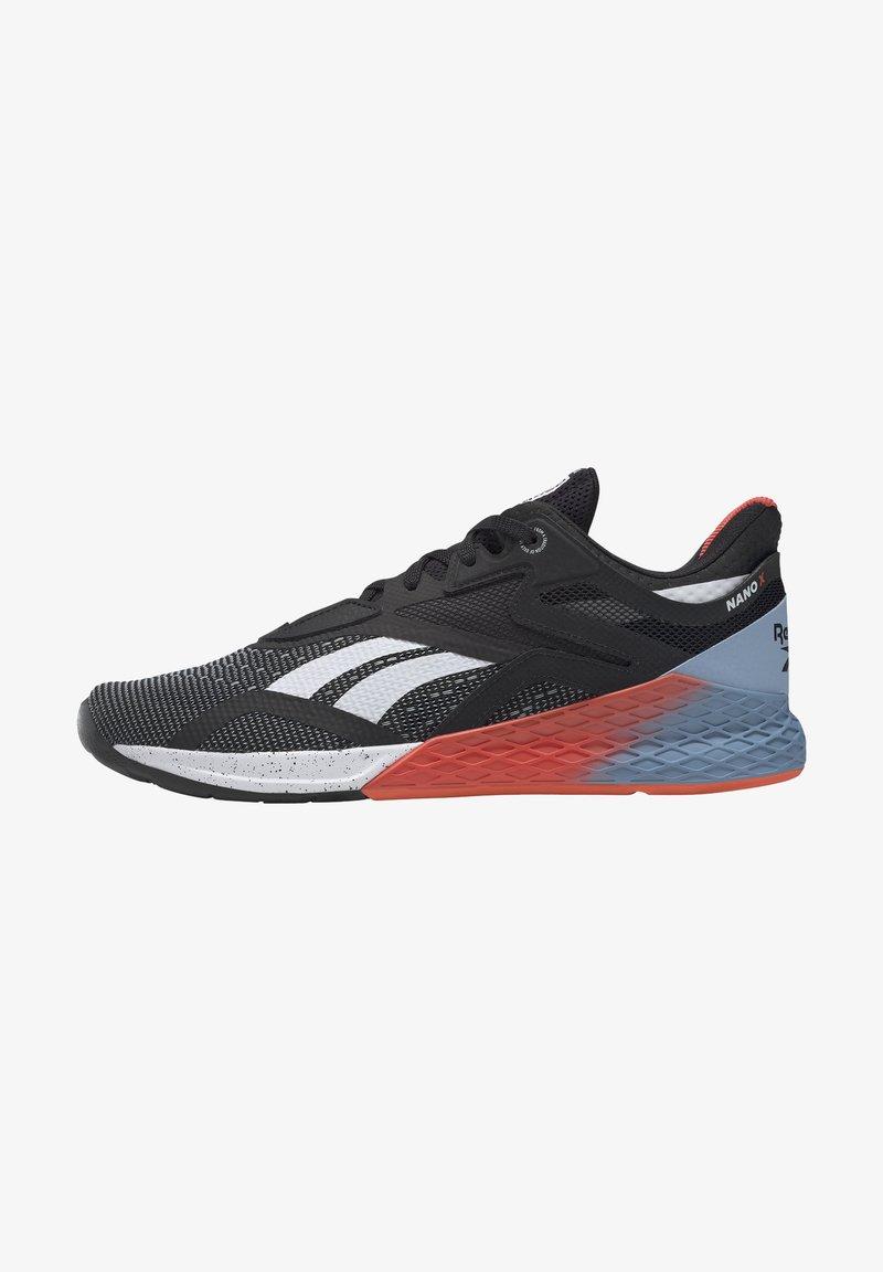 Reebok - NANO X - Chaussures d'entraînement et de fitness - black/white/vivid orange