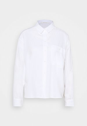BLOUSE LONG SLEEVE KENT COLLAR - Blouse - white