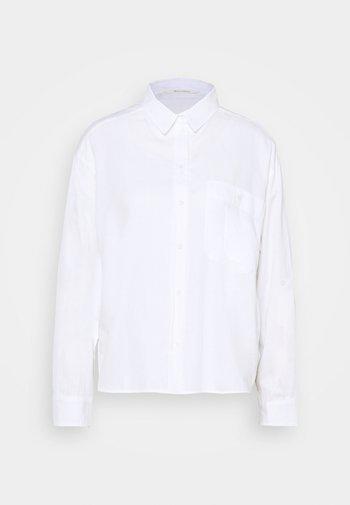 BLOUSE LONG SLEEVE KENT COLLAR - Pusero - white