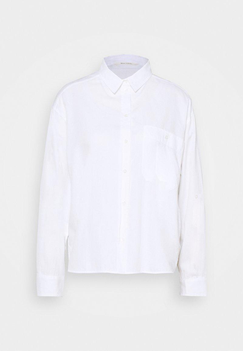 Marc O'Polo - BLOUSE LONG SLEEVE KENT COLLAR - Blouse - white