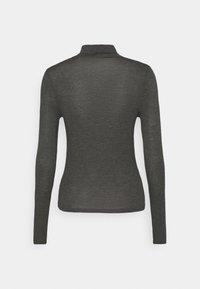 Cotton On - SHEER VINTAGE HIGH NECK LONG SLEEVE - Top sdlouhým rukávem - charcoal marle - 1
