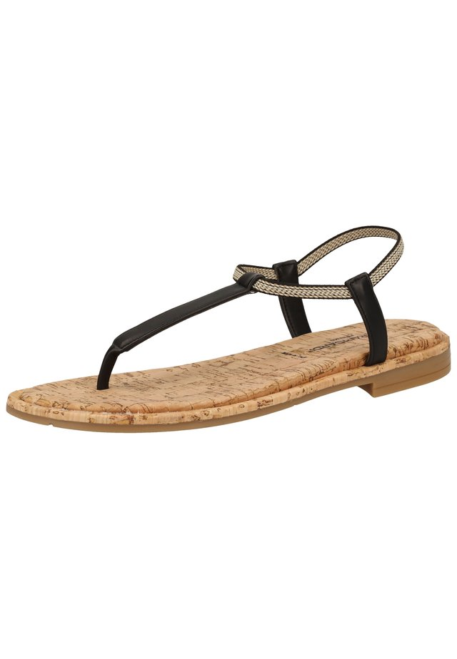 ZEHENSTEG - T-bar sandals - nero s056