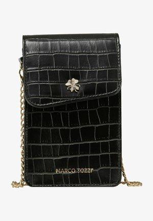 Across body bag - black croco