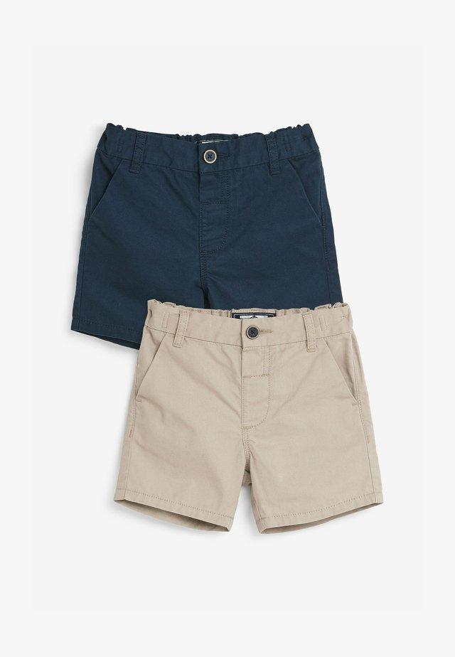 2 PACK  - Shorts - beige/ dark blue