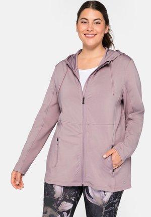 Zip-up hoodie - rosenholz