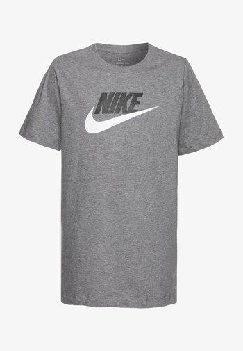 FUTURA ICON - T-shirt print - carbon heather/white