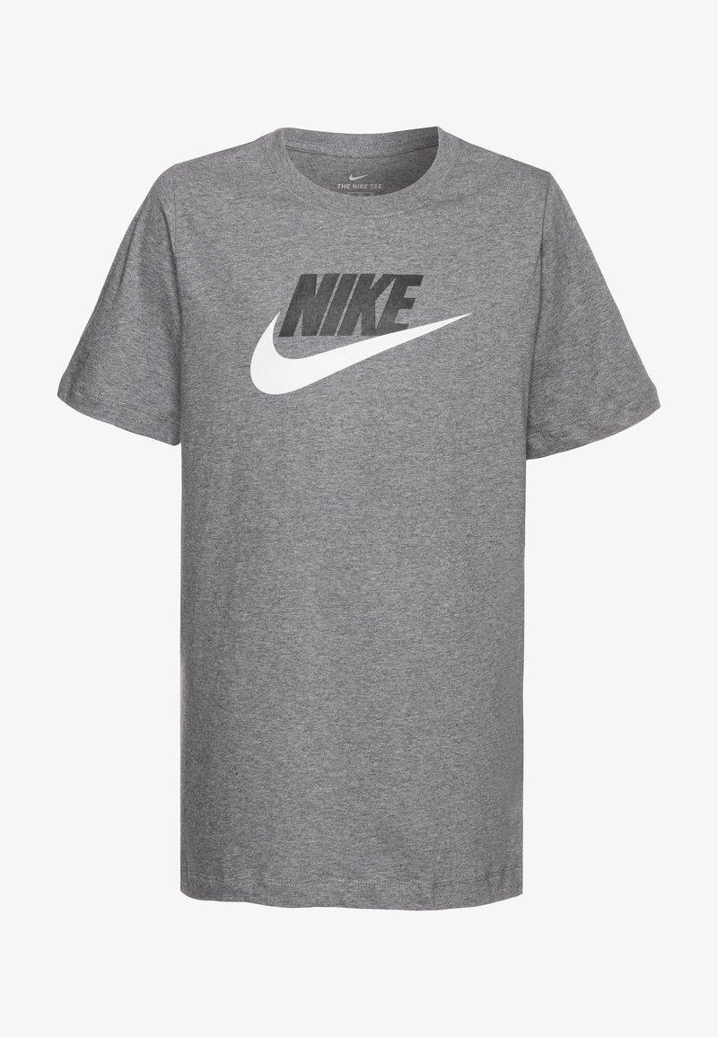 Nike Sportswear - FUTURA ICON - Print T-shirt - carbon heather/white