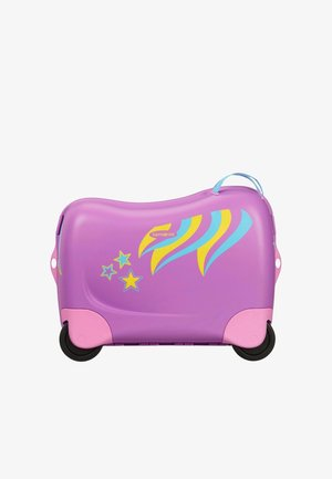 ZUM DRAUFSITZEN - Wheeled suitcase - purple