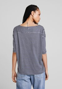 G-Star - VIM LOOSE - Print T-shirt - grey htr/mazarine blue stripe - 2