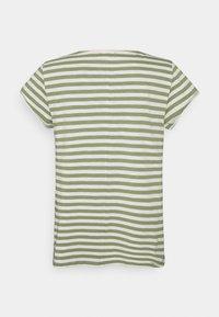 Esprit - SLUB - Print T-shirt - light khaki - 1
