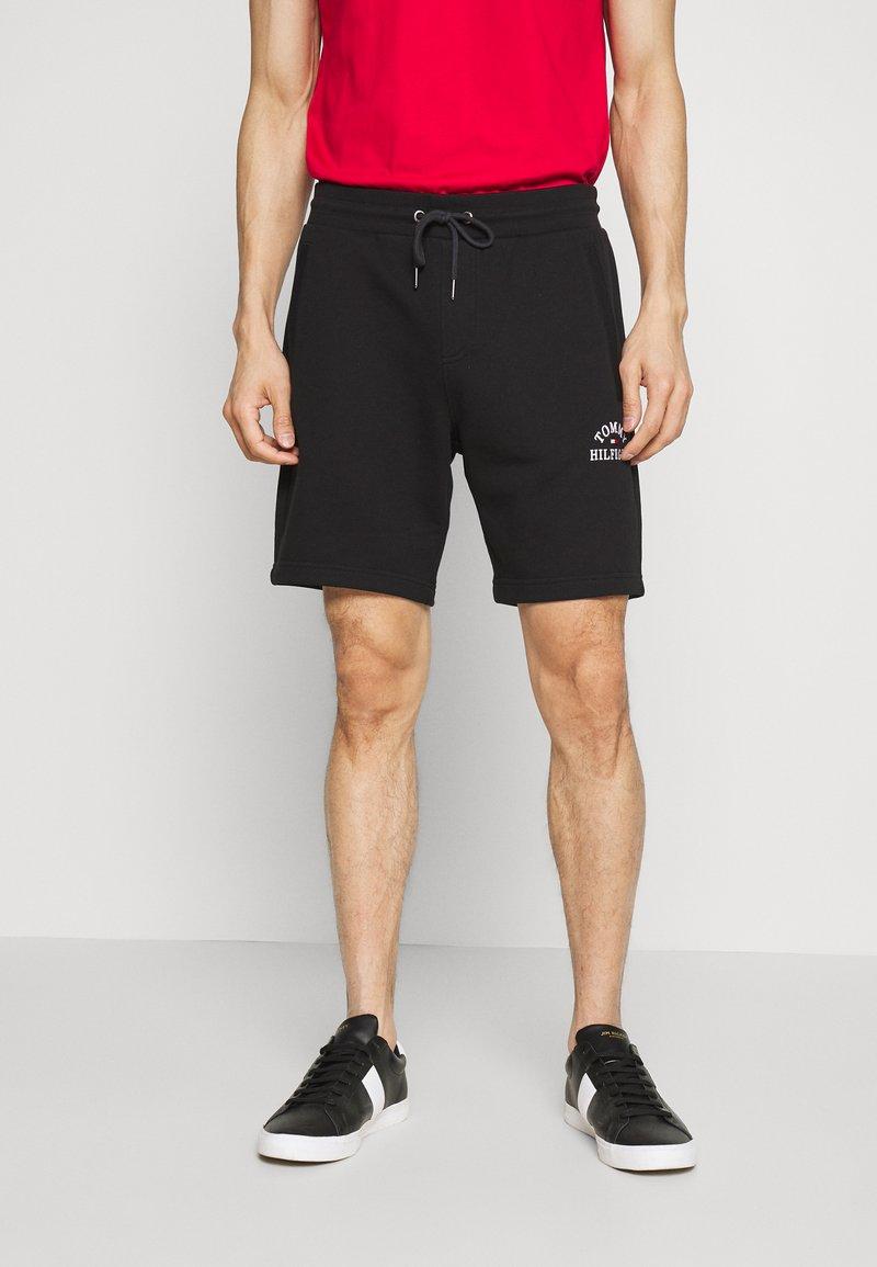 Tommy Hilfiger - BASIC EMBROIDERED  - Shorts - black