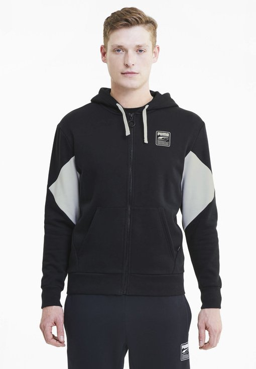 Puma - REBEL  - Zip-up hoodie - black