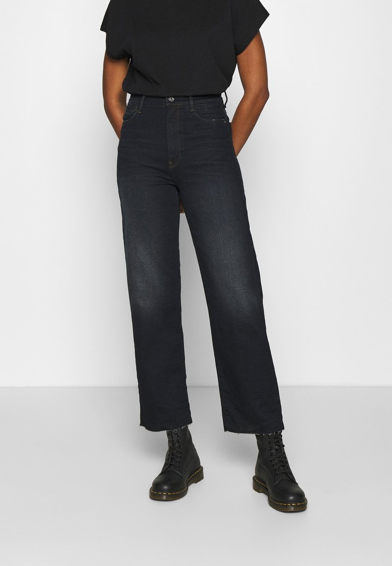 G-Star - TEDIE ULTRA HIGH STRAIGHT ANKLE - Straight leg jeans - xenon blue