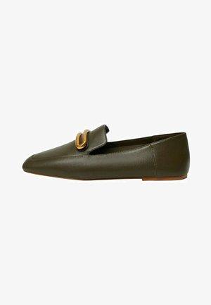 LICA - Nazouvací boty - olivengrün