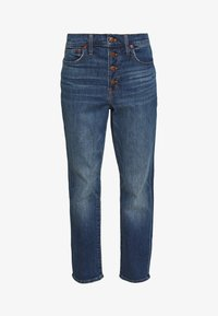 Madewell - PERFECT VINTAGE BUTTON FRONT - Straight leg jeans - barnsdale wash - 5
