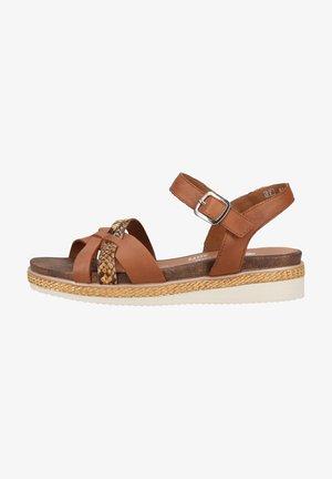 Wedge sandals - muskat/terra
