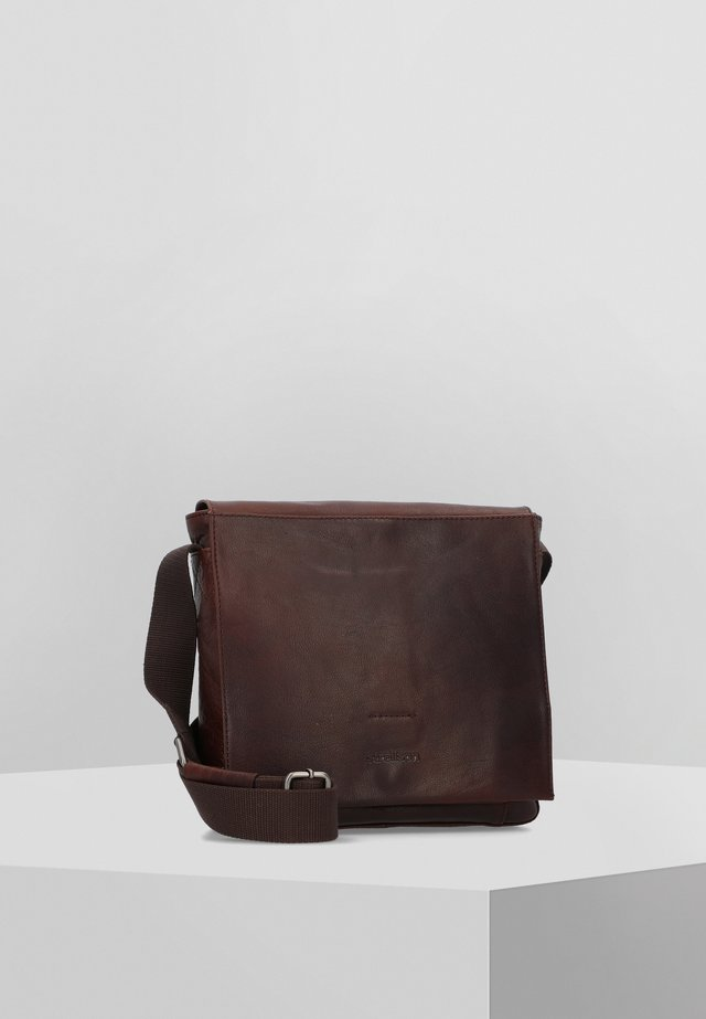 COLEMAN - Schoudertas - dark brown