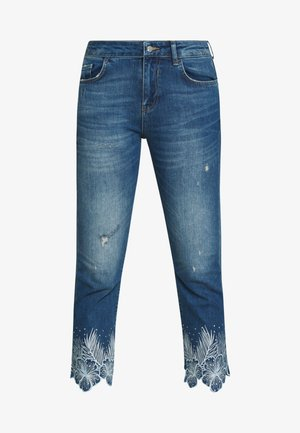 HAWIBIS - Džíny Slim Fit - denim medium wash