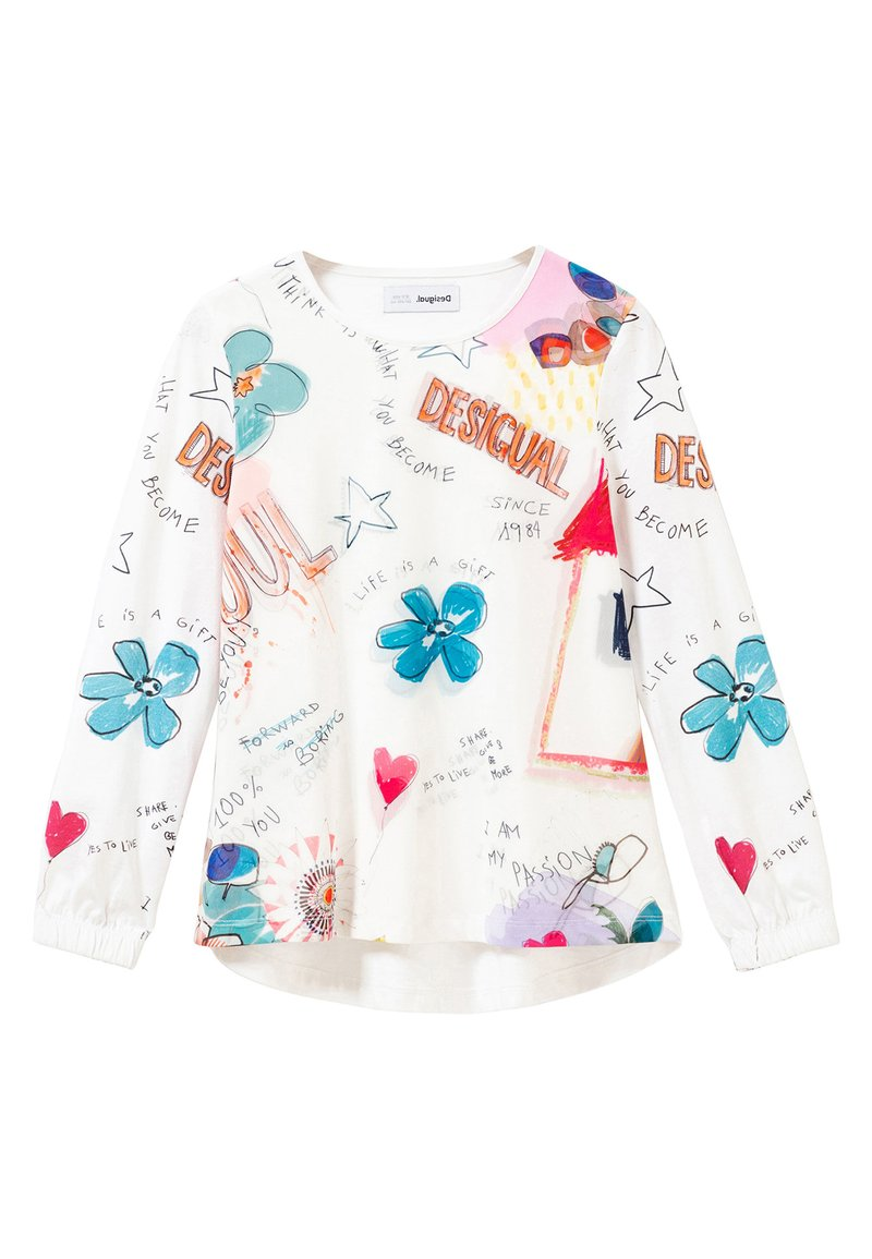 Desigual - Long sleeved top - white