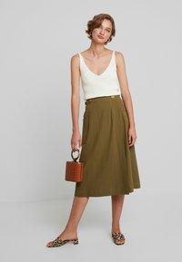 Louche - ARI - A-line skirt - khaki - 1