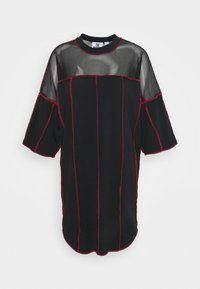 The Ragged Priest - PANELLED SKATER DRESS CONTRAST EXPOSED SEAMS - Jerseykjole - black - 0