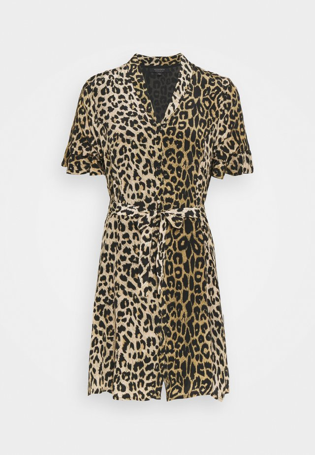 LEPPO DRESS - Korte jurk - leopard yellow