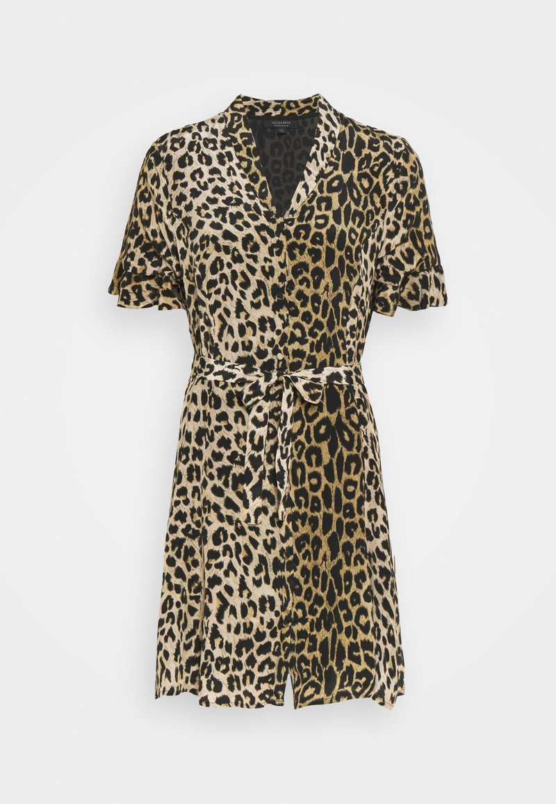 AllSaints - LEPPO DRESS - Day dress - leopard yellow