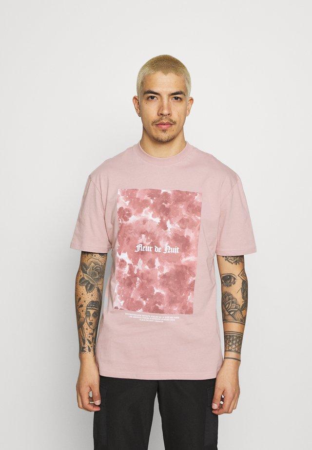 FLORAL TEE - Camiseta estampada - pink