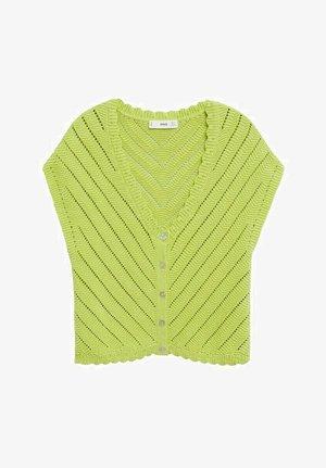 MIT LOCHMUSTER - Cardigan - apfelgrün