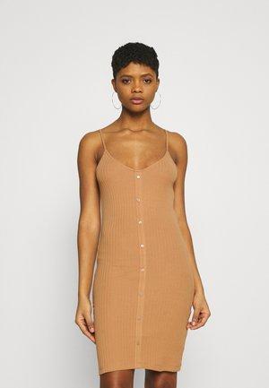 Jersey dress - camel