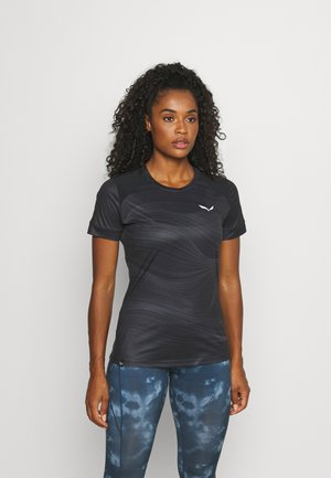 SECEDA DRY  - T-shirt con stampa - black out