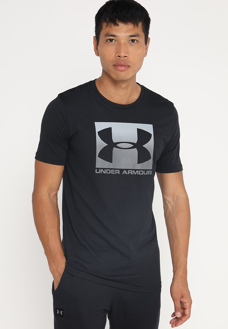 Under Armour - BOXED STYLE - Print T-shirt - black/graphite