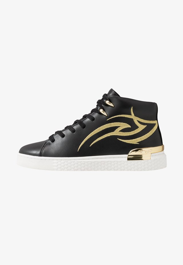 OUTSIDER HIGH TOP - Sneakers hoog - black/gold