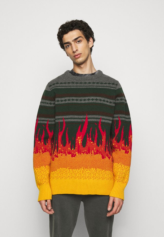 BULKY KNIT FLAME - Svetr - flame