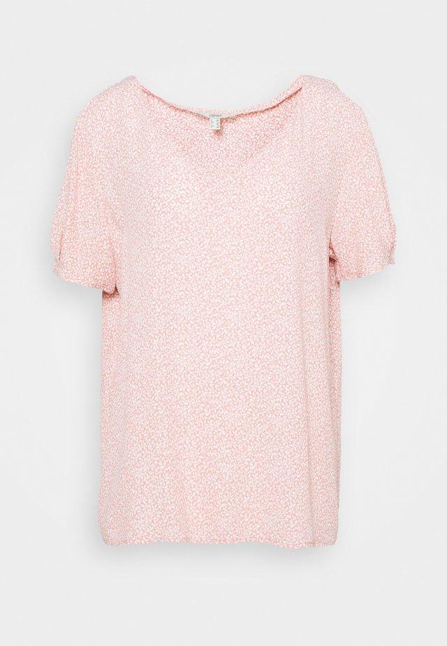T-shirt z nadrukiem - nude