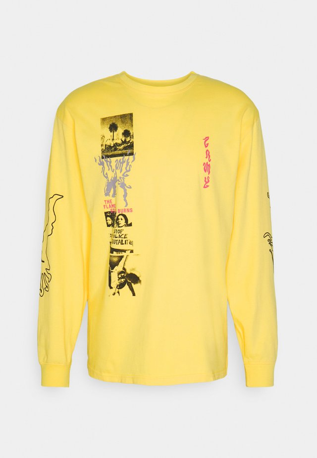 YOGA FIRE LONG SLEEVE TEE - Maglietta a manica lunga - yellow
